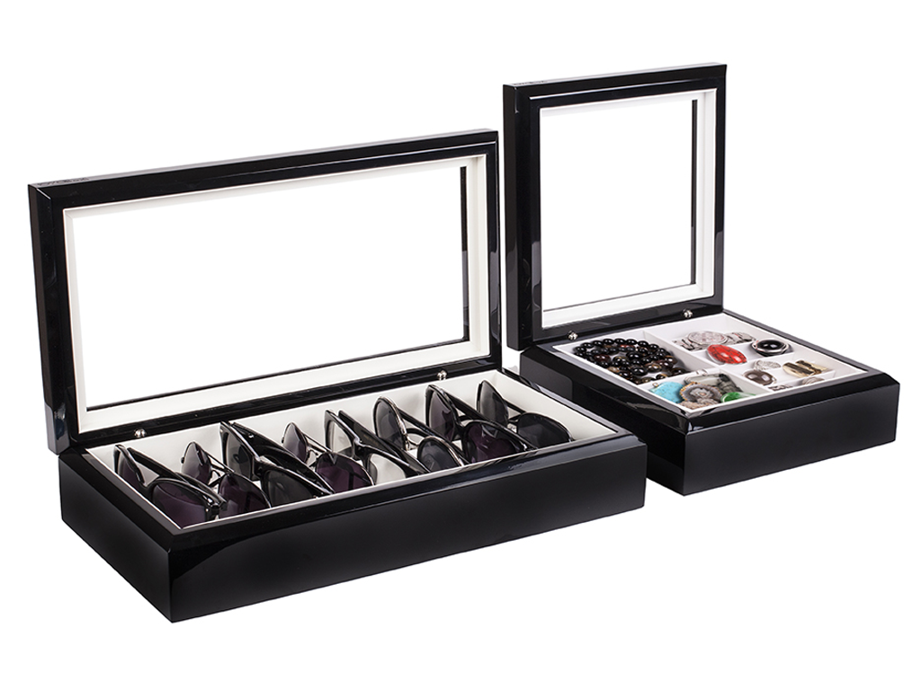 OyoBox eyewear and jewelry organizers in black