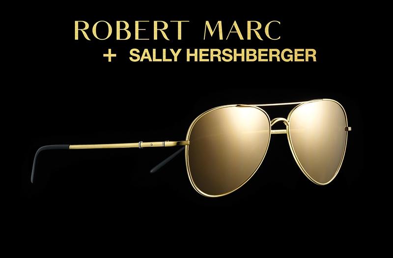 Robert Marc Sally Hershberger Gold Aviators SS2017